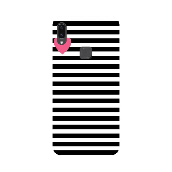 Stripes Heart Vivo V9 Back Cover-Hamee India