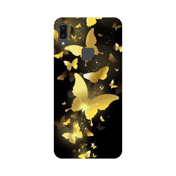 Golden Butterflies Vivo V9 Back Cover-Hamee India