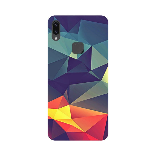 Abstract- Printed Hard Back Case Cover for Vivo V9