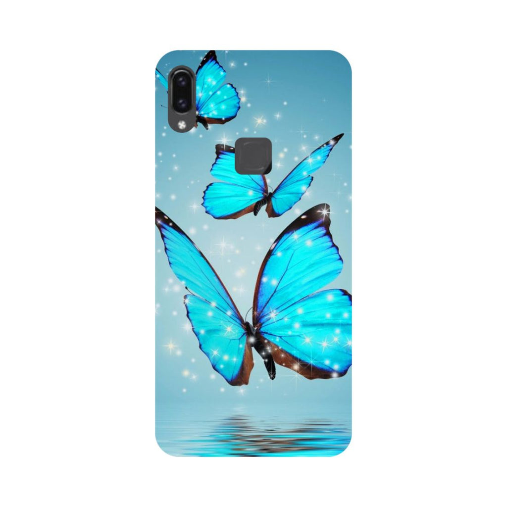 Blue Butterflies Vivo V9 Back Cover-Hamee India