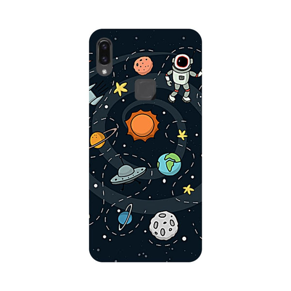 Planets Vivo V9 Back Cover-Hamee India