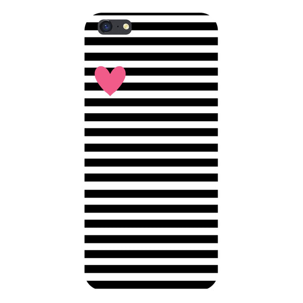 Hamee- Stripes heart-Printed Hard Back Case Cover For iPhone 6