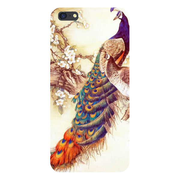 Hamee- Yellow peacock-Printed Hard Back Case Cover For iPhone 6