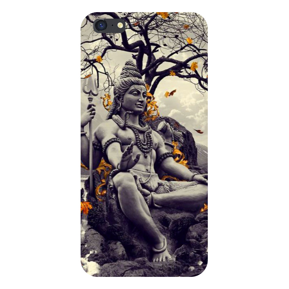 Grey Shiv ji Back Cover For iPhone 8 Plus-Hamee India
