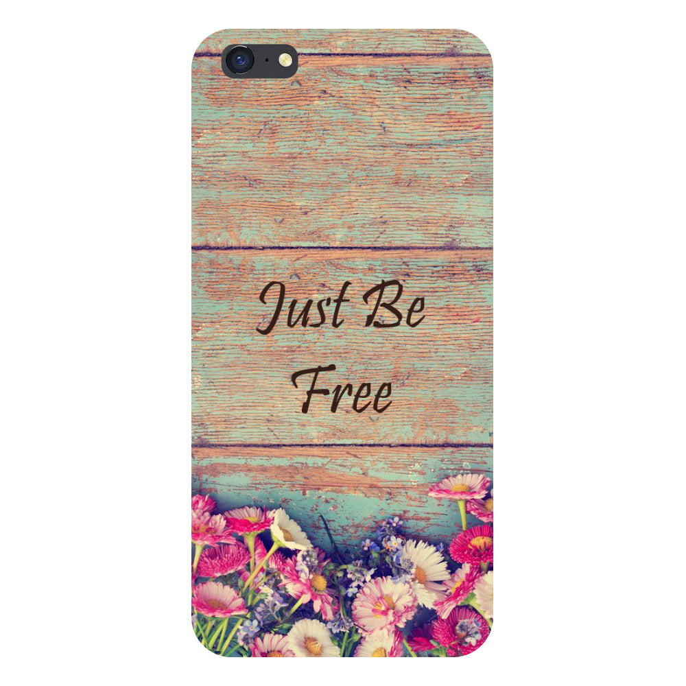 Hamee- Be free-Printed Hard Back Case Cover For iPhone 6s