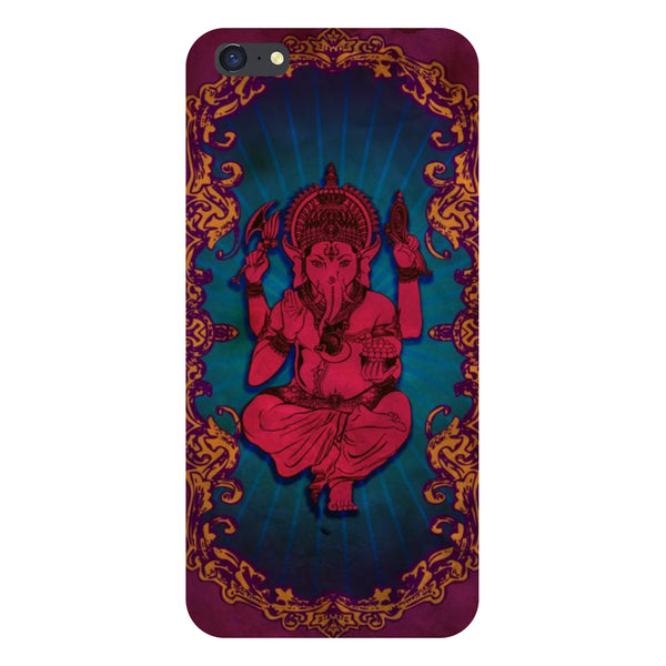Hamee- Red Ganesha-Printed Hard Back Case Cover For iPhone 6