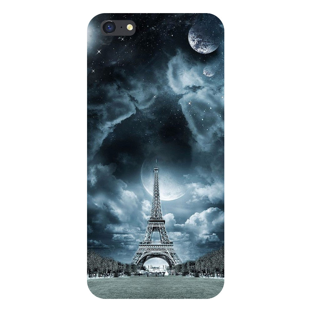 Hamee- Blue Eiffel-Printed Hard Back Case Cover For iPhone 8