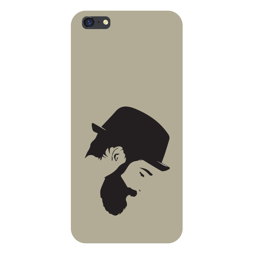 Hamee- Beard-Printed Hard Back Case Cover For iPhone 6