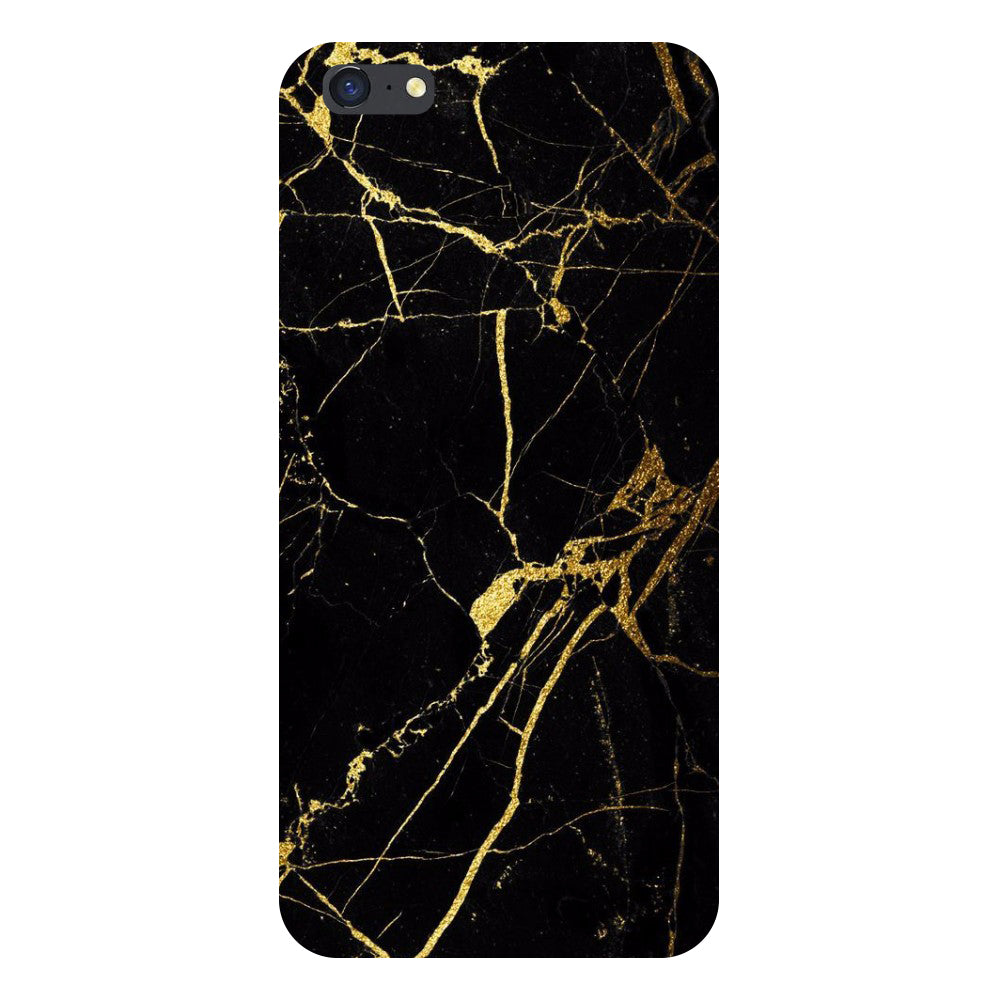 Hamee- Black marble-Printed Hard Back Case Cover For iPhone 8 Plus