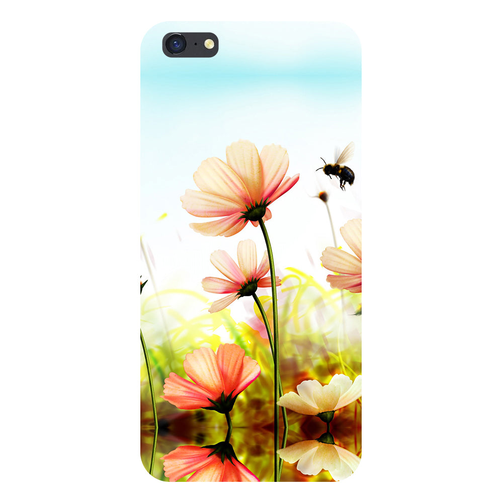 Flower bee Back Cover For iPhone 8 Plus-Hamee India