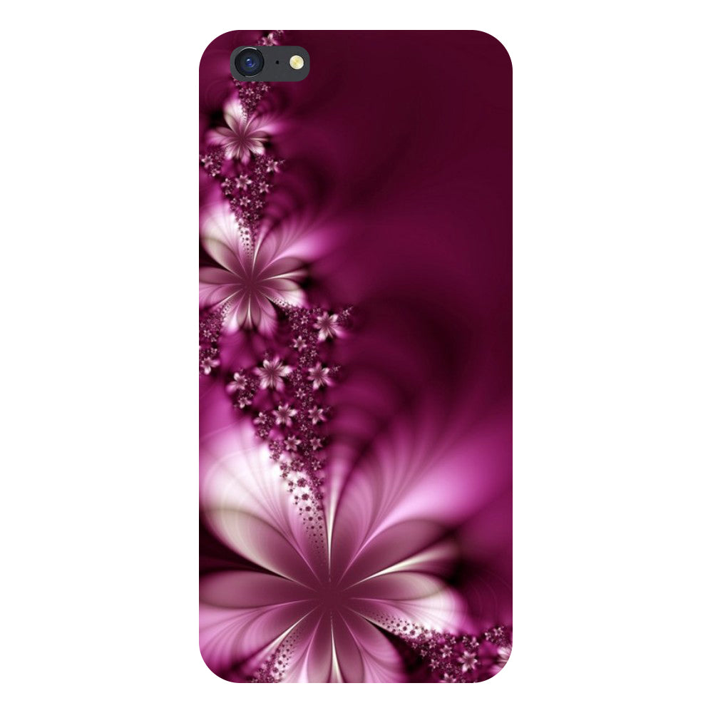 Purple flowers Back Cover For iPhone 8 Plus-Hamee India