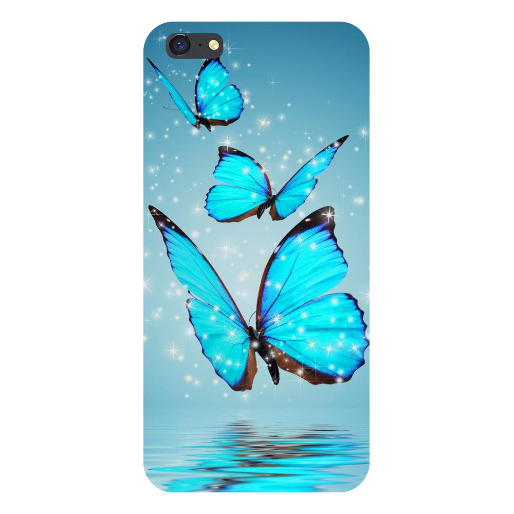 Hamee- Blue Butterflies-Printed Hard Back Case Cover For iPhone 8 Plus