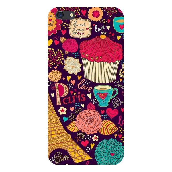 Hamee- Cupcake-Printed Hard Back Case Cover For iPhone 6