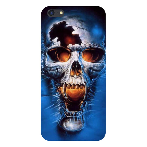 Hamee- Skull blue-Printed Hard Back Case Cover For iPhone 6s