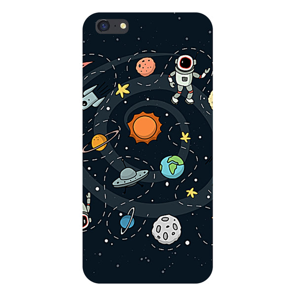 Hamee- Planets-Printed Hard Back Case Cover For iPhone 6s