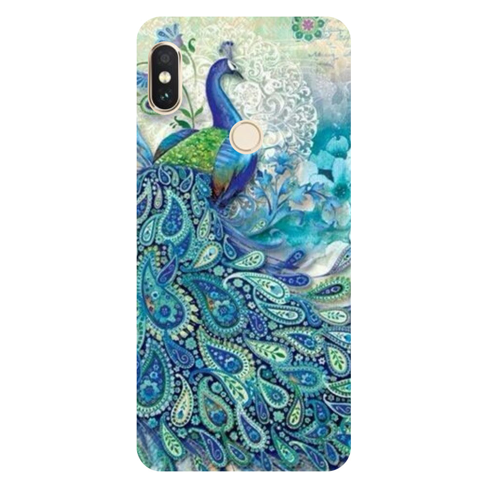the best attitude c7239 d30bf Blue peacock Redmi Note 5 Pro Back Cover