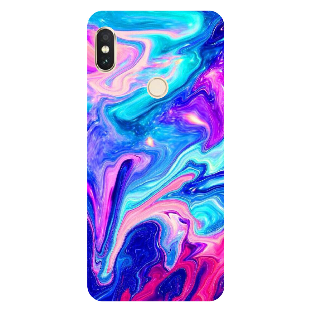 Hamee- Abstract paint-Printed Hard Back Case Cover For Xiaomi Redmi Y2