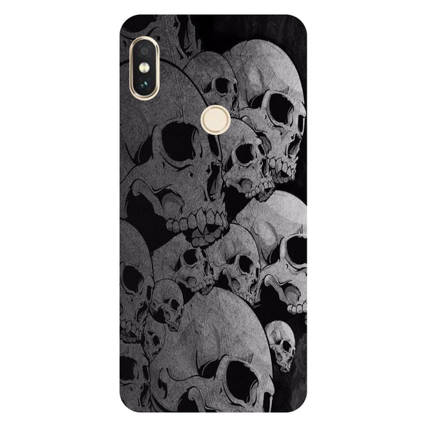 Hamee- Skulls-Printed Hard Back Case Cover For Xiaomi Mi 8