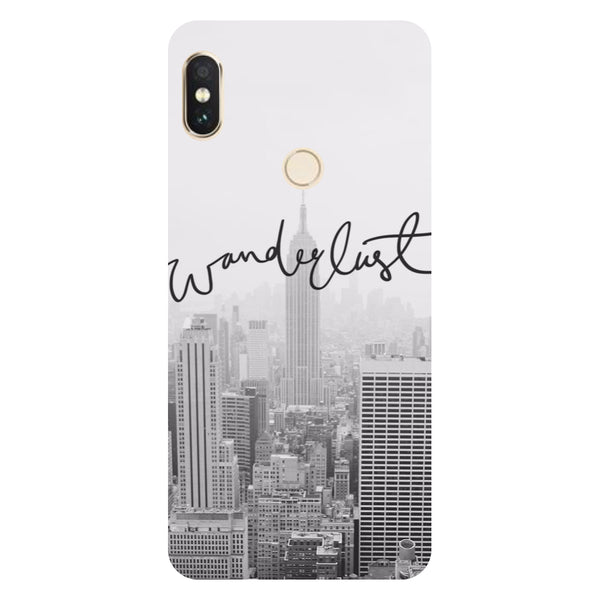 Hamee- Wanderlust-Printed Hard Back Case Cover For Xiaomi Redmi Y2