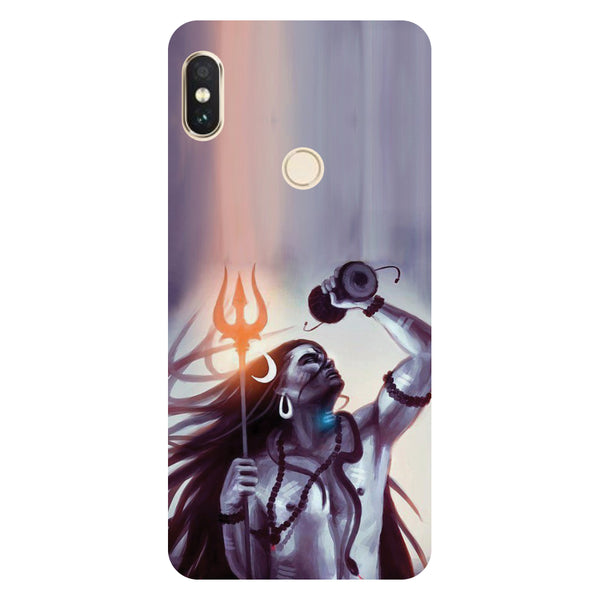 Hamee- Purple shivji-Printed Hard Back Case Cover For Xiaomi Mi 8