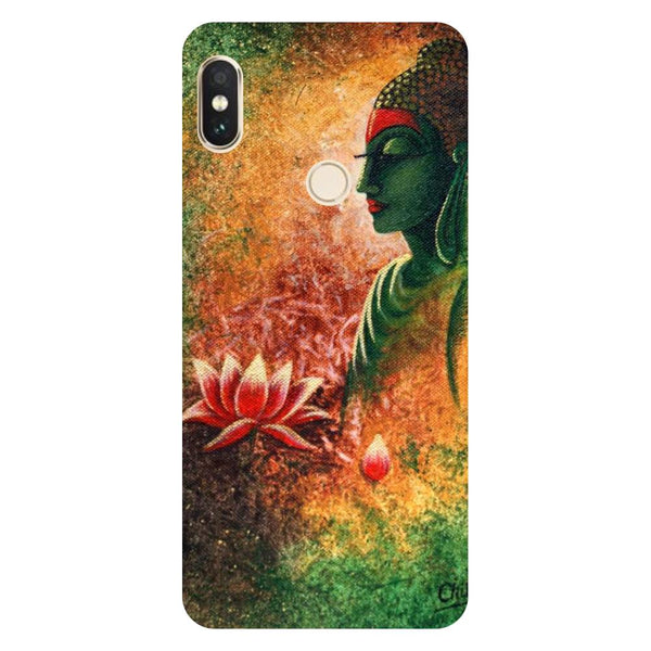 Buddha side pose Mi Max 3 Back Cover