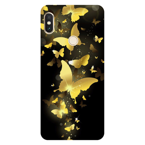 Golden Butterflies- Printed Hard Back Case Cover for Xiaomi Redmi Note 5 Pro
