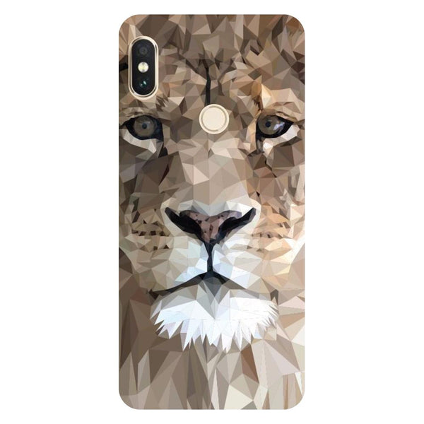 Lion Abstract Redmi 6 Pro Back Cover-Hamee India