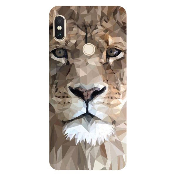Hamee- Lion abstract-Printed Hard Back Case Cover For Xiaomi Mi 8-Hamee India