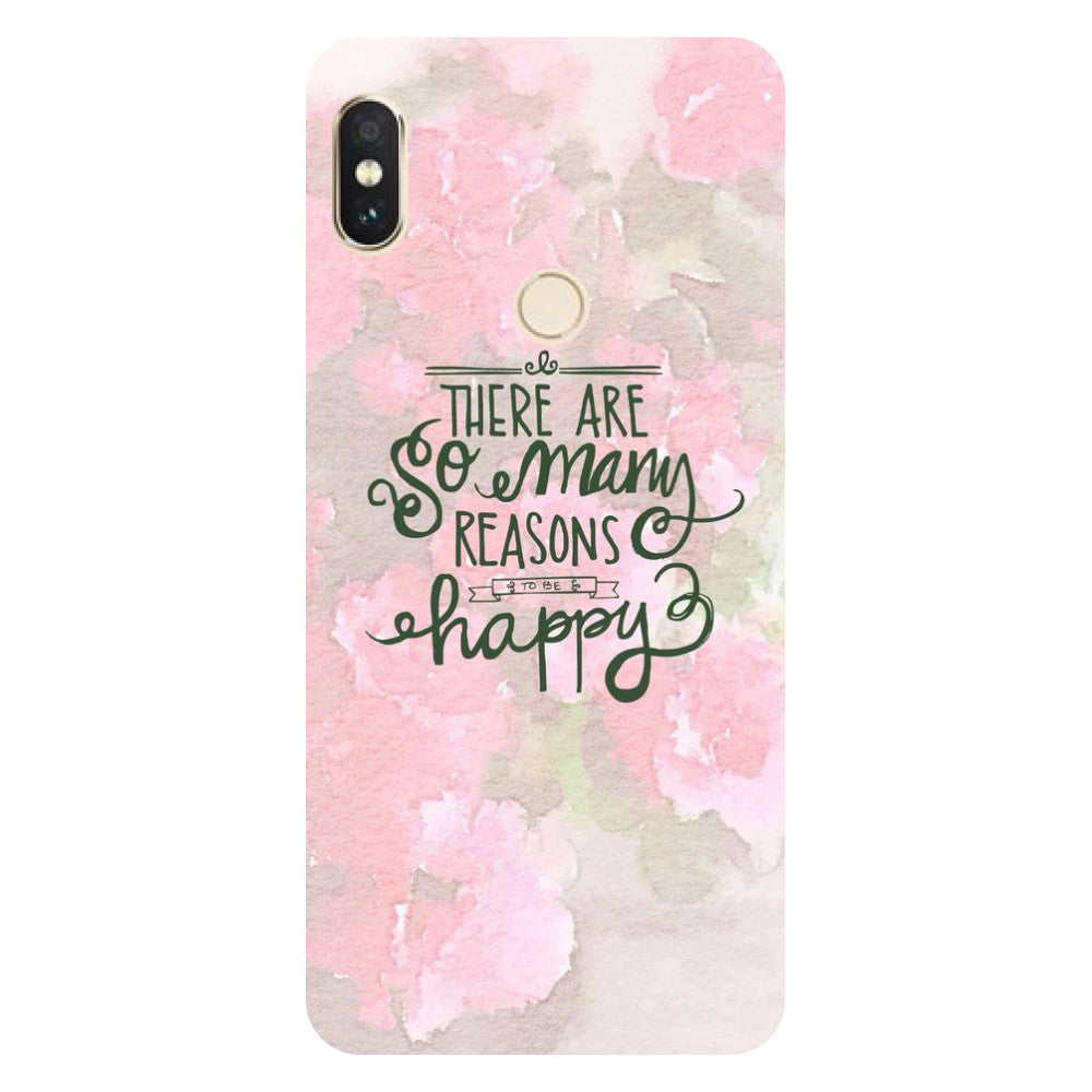 Hamee- Be Happy-Printed Hard Back Case Cover For Xiaomi Mi 8-Hamee India