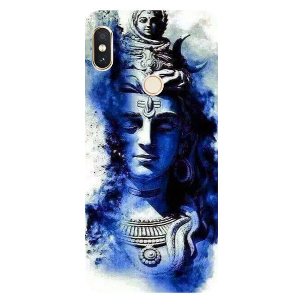Hamee- Blue shiva-Printed Hard Back Case Cover For Xiaomi Mi 8-Hamee India