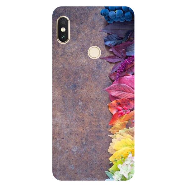 Hamee- Side flowers-Printed Hard Back Case Cover For Xiaomi Mi 8