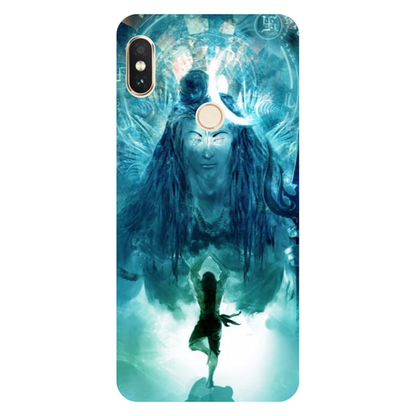 Hamee- Standing shiv ji-Printed Hard Back Case Cover For Xiaomi Mi 8-Hamee India