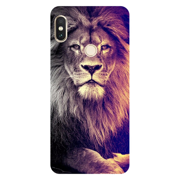 Lion- Printed Hard Back Case Cover for Xiaomi Redmi Note 5 Pro