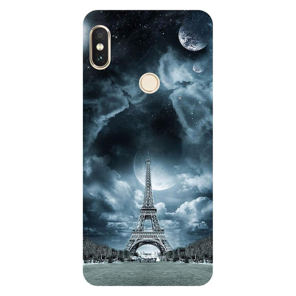 Blue Eiffel Redmi 6 Pro Back Cover-Hamee India