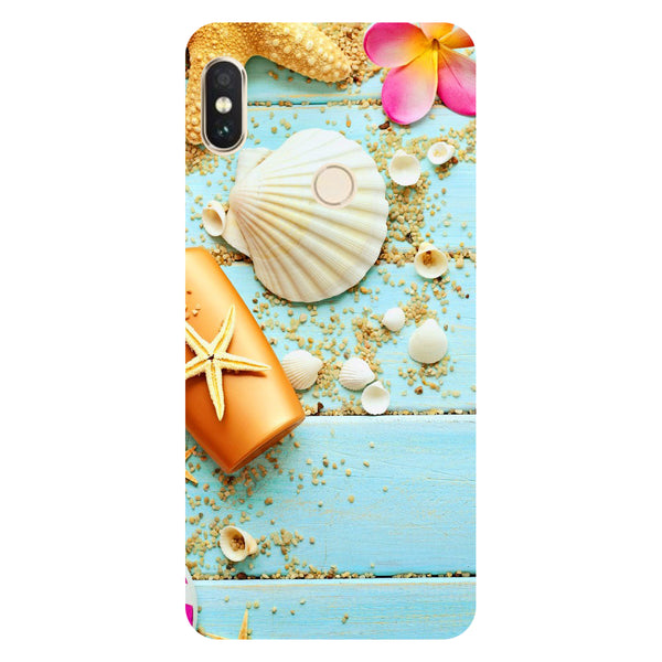 Hamee- Shells-Printed Hard Back Case Cover For Xiaomi Mi 8-Hamee India