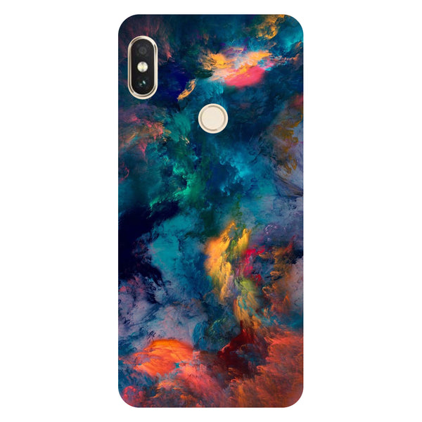 Hamee- Abstract fumes-Printed Hard Back Case Cover For Xiaomi Redmi Y2