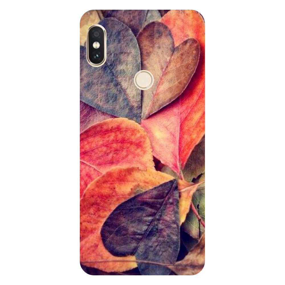 Hamee- Heart Leaf-Printed Hard Back Case Cover For Xiaomi Mi 8-Hamee India