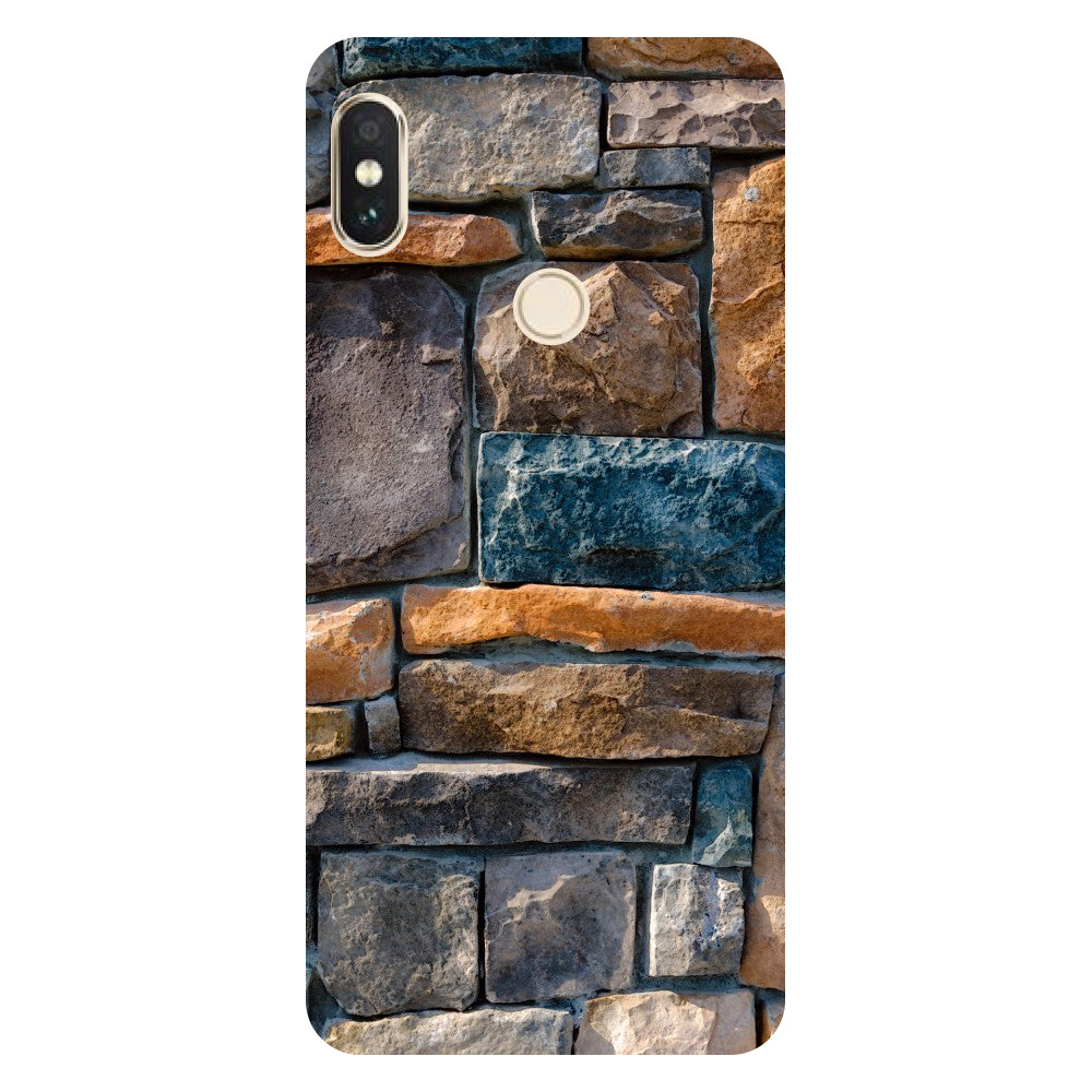 Hamee- Stone Wall-Printed Hard Back Case Cover For Xiaomi Mi 8-Hamee India