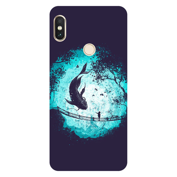 Fish- Printed Hard Back Case Cover for Xiaomi Redmi Note 5 Pro