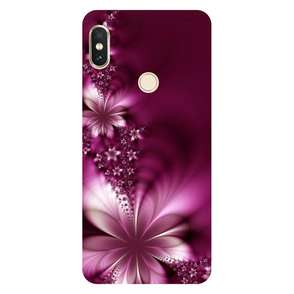 Purple Flowers Redmi 6 Pro Back Cover-Hamee India