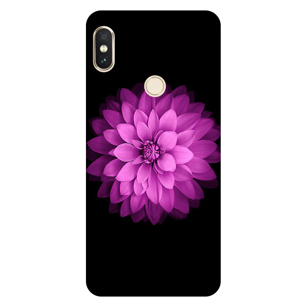 Hamee- Flower purple-Printed Hard Back Case Cover For Xiaomi Mi 8-Hamee India