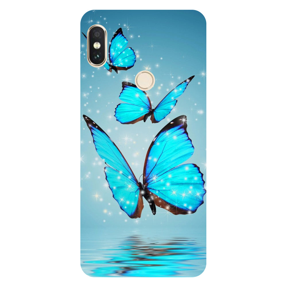 Hamee- Blue Butterflies-Printed Hard Back Case Cover For Xiaomi Mi 8-Hamee India