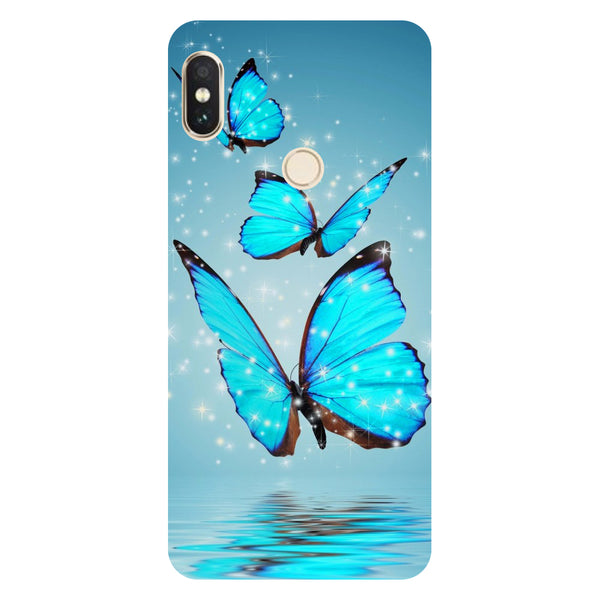Blue Butterflies- Printed Hard Back Case Cover for Xiaomi Redmi Note 5 Pro