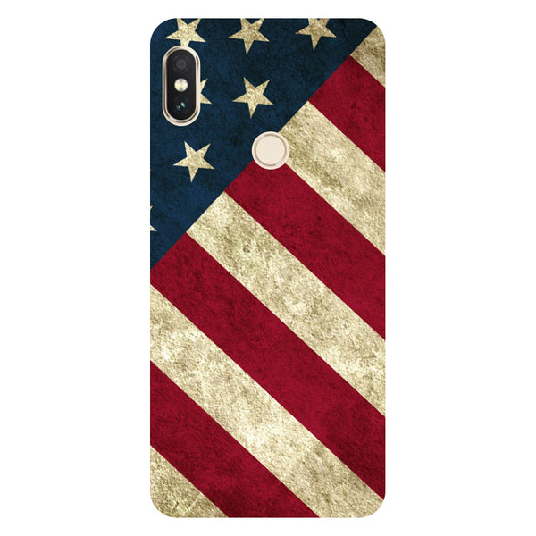 Hamee- USA flag-Printed Hard Back Case Cover For Xiaomi Redmi Y2