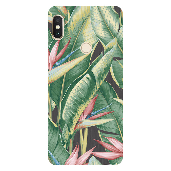 Hamee- Leaf paint-Printed Hard Back Case Cover For Xiaomi Mi 8-Hamee India