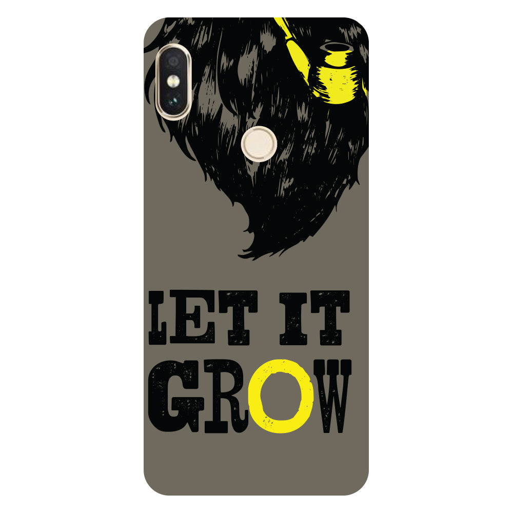 Hamee- Let it grow-Printed Hard Back Case Cover For Xiaomi Mi 8-Hamee India