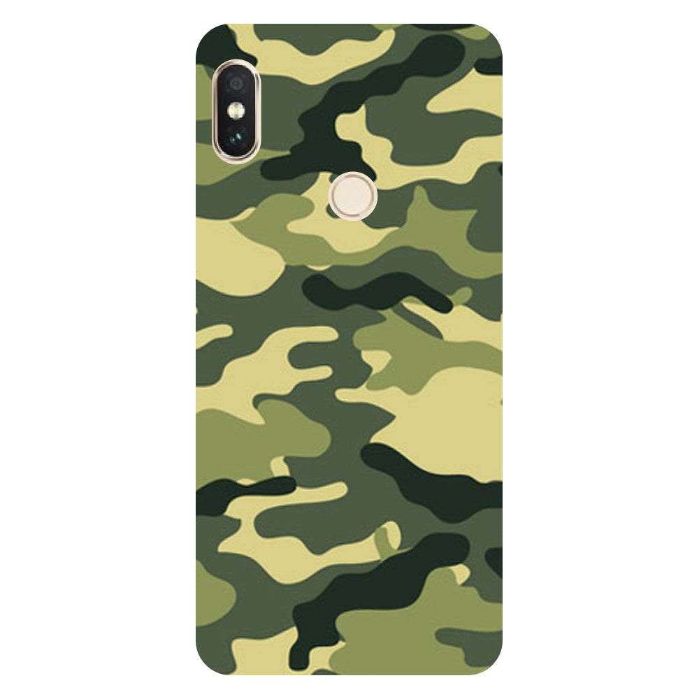 Hamee- Army Camouflage-Printed Hard Back Case Cover For Xiaomi Mi 8