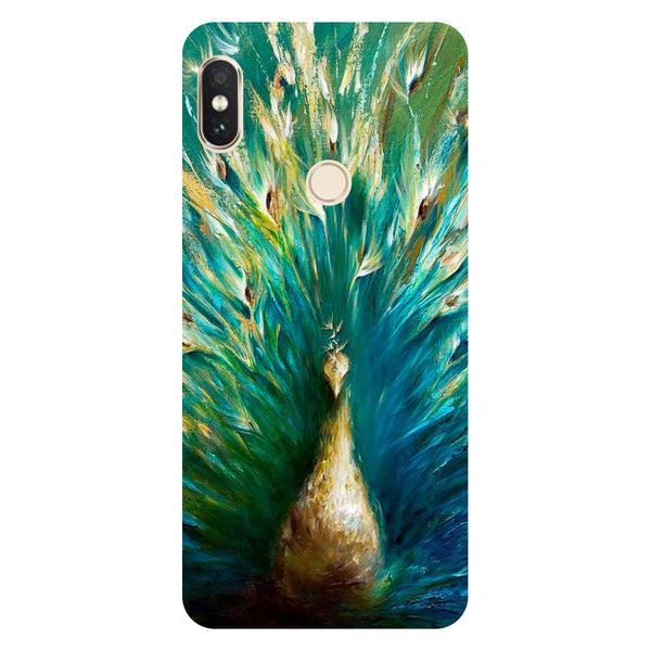 Hamee- Peacock painting-Printed Hard Back Case Cover For Xiaomi Redmi Y2