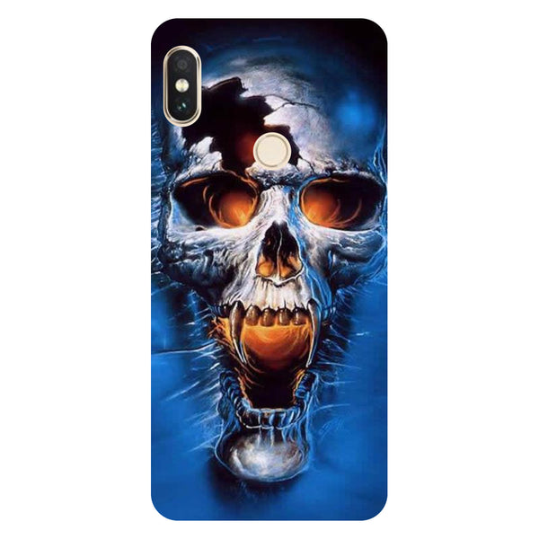 Hamee- Skull blue-Printed Hard Back Case Cover For Xiaomi Mi 8-Hamee India