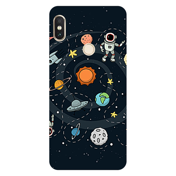 Hamee- Planets-Printed Hard Back Case Cover For Xiaomi Mi 8